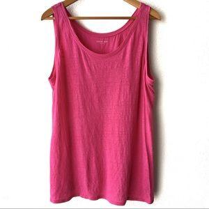 Eileen Fisher Pink Linen Sleeveless Tank Top